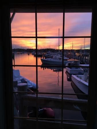 Stonington, CT: Sunset from dining room
