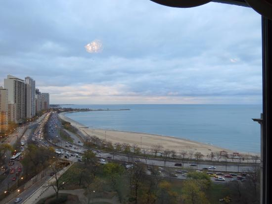 View From Room 1021 Awesome Lake Michigan Oak St Beach And