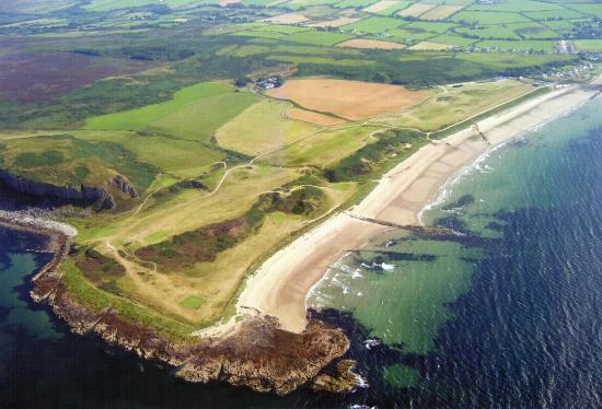 Isle of Arran, UK: Shiskine Golf & Tennis Club from the air