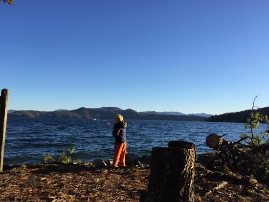 Salem, Carolina del Sur: fishing from the campsite