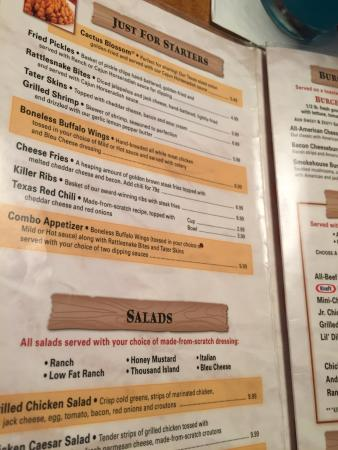 Logan s Roadhouse Menu prices