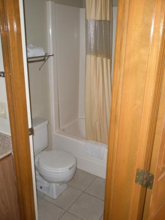 Days Inn by Wyndham Auburn: Toilet and tub