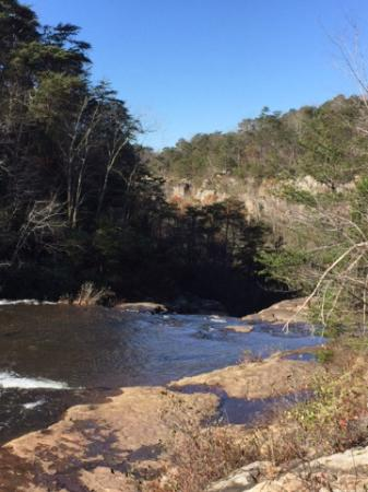 Mentone, AL: Off to the right from the falls