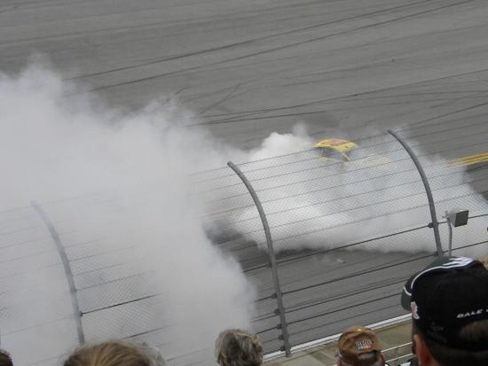 Talladega, AL: Winner burnout