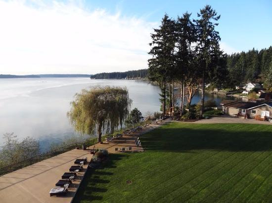 Suquamish, WA: hotel overlook
