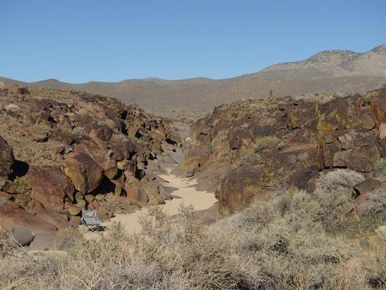 Little Petroglyph Canyon: View of the canyon