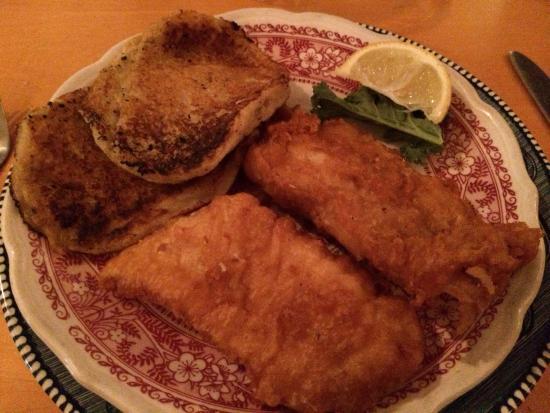 Trevor, WI: The best AYCE fish fry around with potato pancakes.