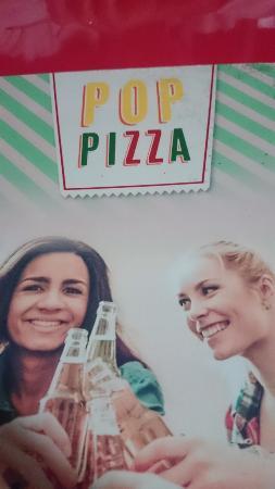 Pop Pizza : Capa do cardápio