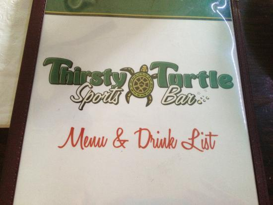 Thirsty Turtle Sports Bar : Thirsty Turtle - menu