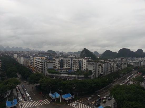 Baigong Boutique Hotel Guilin: ホテルの部屋から見える風景