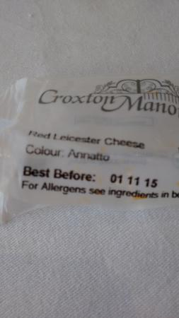 The Marine Hotel: Out of date cheese for breakfast