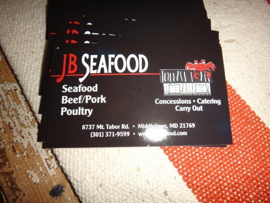 Middletown, Μέριλαντ: Their card..