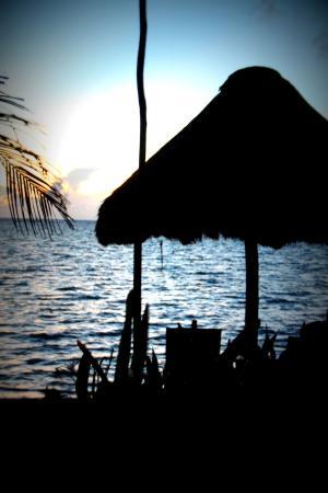 Sin Duda Villas : Beach palapa at first light