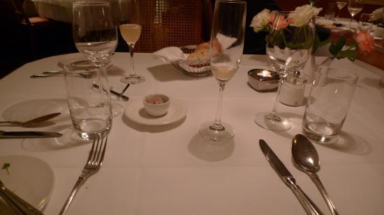 Birkenau, Tyskland: Gedeckter Tisch
