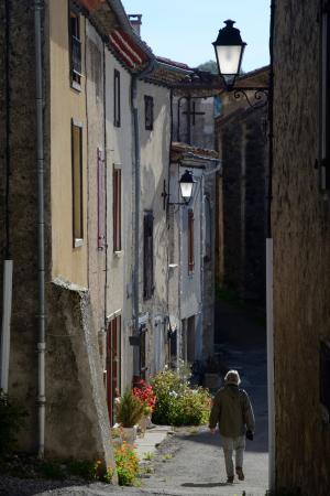 Castex, France : Roquefixade - after the walk up the hill