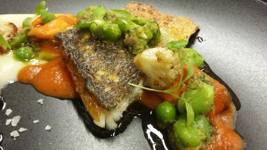 The Cellar Door: Pan fried sea bass