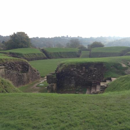 Caerleon, UK: View of the Amphitheatre