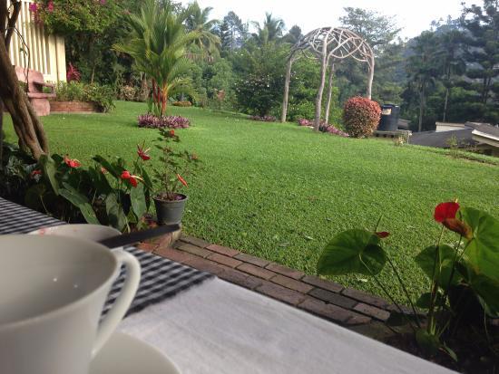 Royal Tourist Lodge: Jardín dónde se desayuna