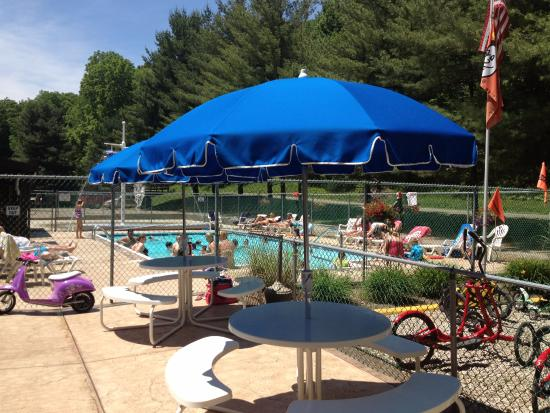 Pool picture of lazy river at granville campground - Campgrounds in ohio with swimming pools ...