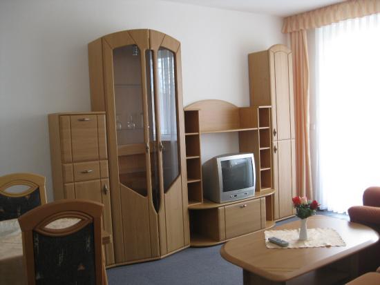 Hotel- und Ferienwohnanlage Friedrich : Das geräumige Wohnzimmer
