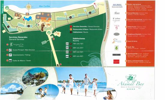 Map of Resort - Picture of Akumal Bay Beach & Wellness Resort ...