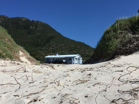 Hout Bay Backpackers: View from the beach
