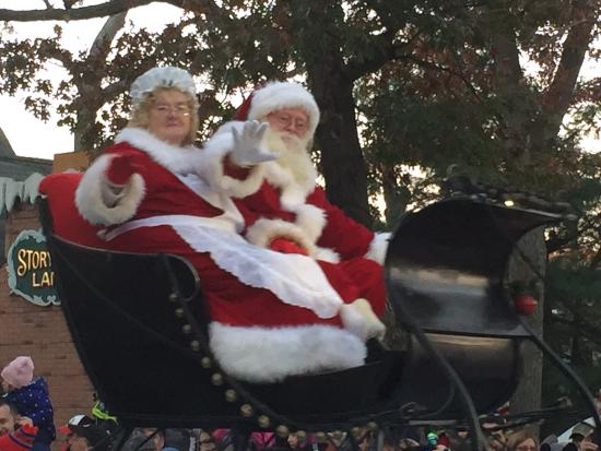 Storybook Land: Santa and Mrs. Claus make their appearance.