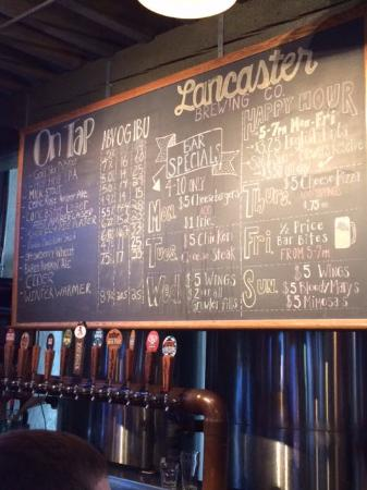 Lancaster Brewing Company: Tap list 11/08/15