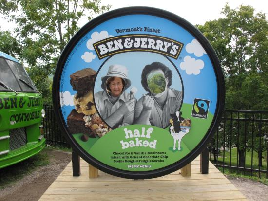 Waterbury, VT: Outside Ben and Jerry's Ice Cream Factory