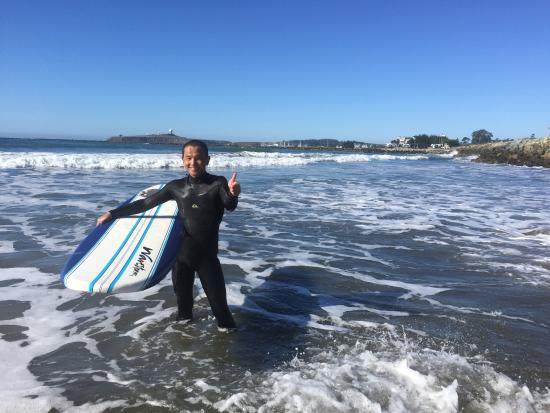 Sea, Surf & Fun: Smile after a fantastic session with Fabien!