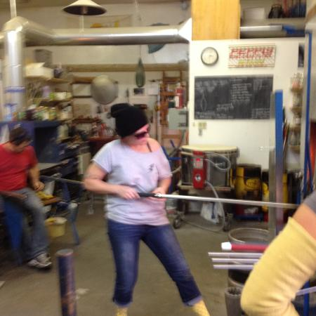 Windermere, Canada: blowing glass
