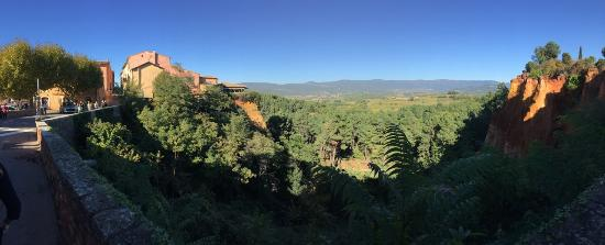 Panorama from bridge in Roussillon