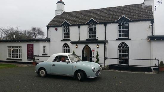 Jameston, UK: Tudor Lodge on a Wet Grim day