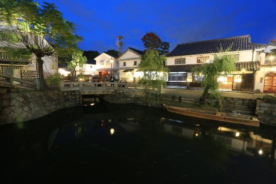 Kurashiki Bikan Historical Quarter: 夜の美顔地区