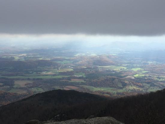 Bedford, VA: View of the valley from the top of Sharp Top Mountain