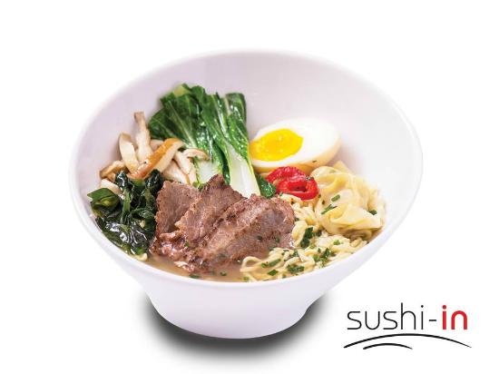 "sushi in : Ramen ""Res"" mediano $ 7,70"