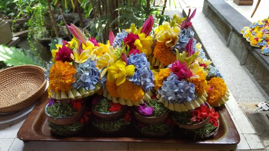 Alam Indah: Stack of offerings