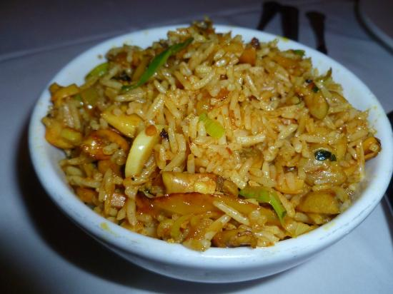 Special Pilau Cooked With Indian Herbs Spices Onions