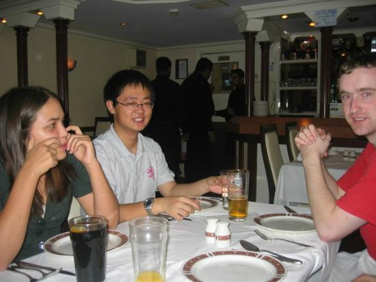 Univerity Of Cambridge Karate Students Enjoying A Curry