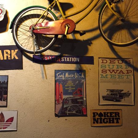 wall decor. - picture of bob marlin restaurant and grill, naga