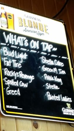 Johnson Creek, WI: Tap Beer Menu