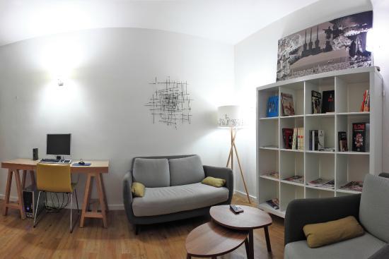 Hostal Barcelona Centro: Salón