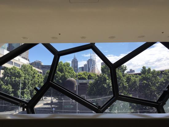 Melbourne Recital Centre: View from the foyer of theatr