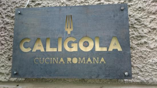 Outside sign otherwise not noticeable picture of for Cuccina romana