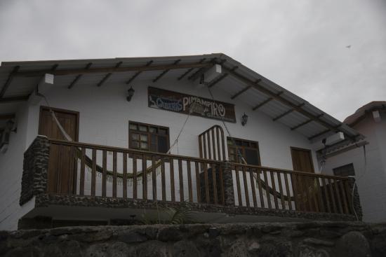 Pimampiro Hosteria: warm water kamers liggen boven