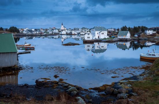 Fedje Municipality, Norway: Blue hour at Fedje