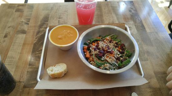 Harvest kale salad and spiced pumpkin soup - Picture of Vinaigrette ...