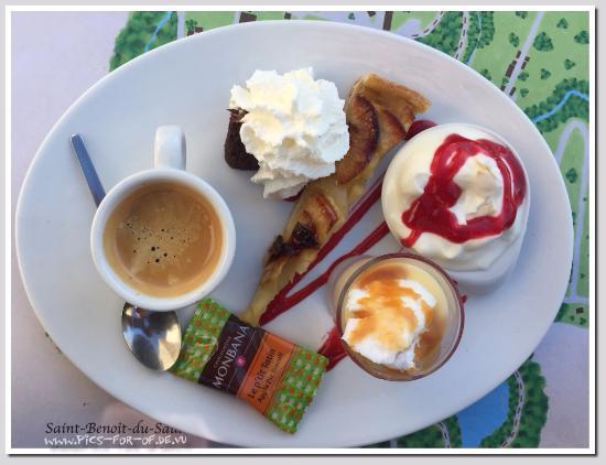 Saint-Benoit-du-Sault, Prancis: Auberge du Champ de Foire - Cafe Gourmand