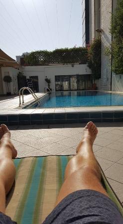 Poolside Mercure Abu Dhabi