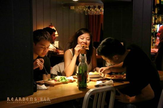 Food at Reardens Bar